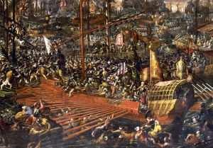 batalla de Lepanto, Luis de Góngora. Amarrado al duro banco.