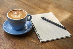 Escribir, leer poesia, café, aptitudes