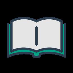 libro, icono, imagen, leer, recitar poesía