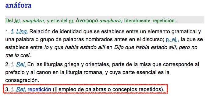 Anáfora, repetición, anáfora y paralelismo, figura literaria, figura retórica, recurso literario, poema, ESPOESIA